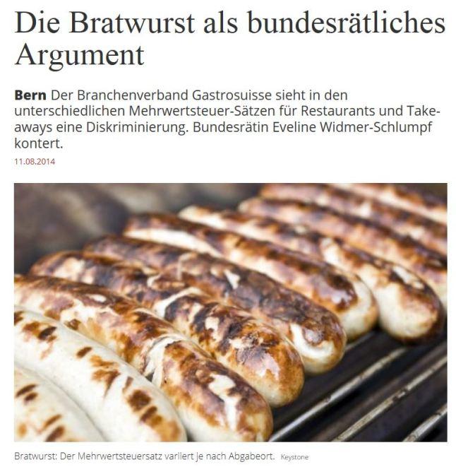 bratwurst als argument