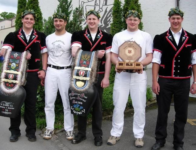 fünf kranzgewinner schwyzer kantonales arth 2005