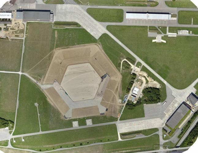 Luftaufnahme vom Festgelände Estavayer2016