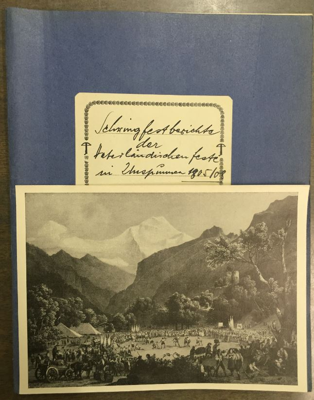schwingfestberichte unspunnen-feste 1805+1808