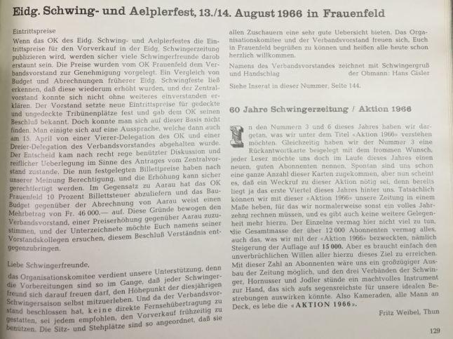 diskussion ticketpreise 1966 in schwingerzeitung