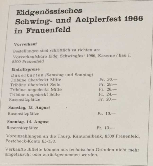 ticketpreise frauenfeld 1966